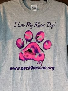 I Love My Rescue Dog Tee's (Pink)