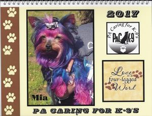 2017 PA Caring For K-9's Calendar